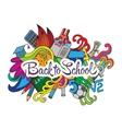 decorative doodles design card Back to school vector image