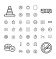 37 stop icons vector image vector image