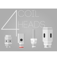 4 colored coil heads set vector image