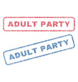 adult party textile stamps vector image vector image