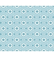 Background with seamless pattern in arabic style vector image vector image
