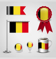 belgium flag design vector image