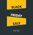 black friday vertical banner with oblique bg vector image vector image