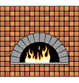 brick oven vector image vector image