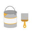 brush bucket painting icon vector image vector image
