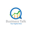 business talk logo designs vector image