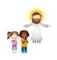 catholic love design vector image