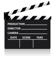 chalkboard movie director slate vector image