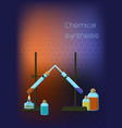 chemistry scientific background template with vector image vector image