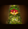 christmas background golden bells vector image vector image