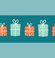 christmas presents seamless border vector image vector image