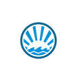 circle wave ocean logo vector image vector image
