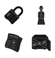 coded lock the appearance of the detective a vector image vector image