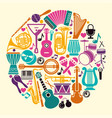 collection of musical instruments icons in the vector image vector image