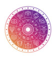 colorful astrology circle design with horoscope vector image vector image