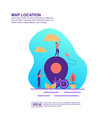 concept map location modern conceptual for vector image vector image