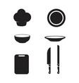 cooking icon template vector image vector image
