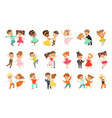 couple little kids dancing set modern and vector image vector image