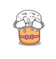 crying easter cake mascot cartoon vector image vector image