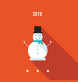 cute snowman merry christmas and happy new year vector image