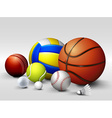 different types of balls vector image vector image