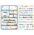 Elements of the modern city vector image vector image