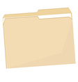 Empty file folder vector image