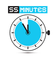 Fifty Five Minutes Stop Watch - Clock vector image