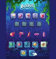 fish world bonus screen vector image vector image
