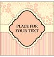 floral postcard vector image