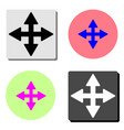 four side arrow flat icon vector image vector image
