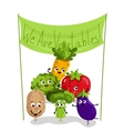 Funny vegetable isolated cartoon characters vector image