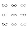 glasses icons set simple style vector image