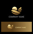gold nature leaf environment logo vector image vector image
