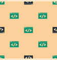 green and black web design and front end vector image vector image