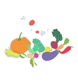 Green vegetables healthy food text vector image