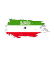 grunge brush stroke with somaliland national flag vector image vector image