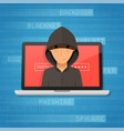 hacker activity and attack concept vector image vector image