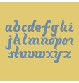 hand-drawn letters latin alphabet vector image