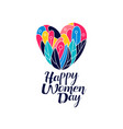 happy women day logo creative template vector image