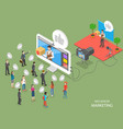 influencer marketing flat isometric concept