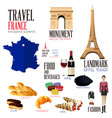 infographic elements for traveling to france vector image