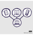 Internet community icon set vector image vector image