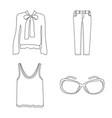 isolated object of woman and clothing icon vector image
