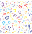 king crown sketches hand drawn seamless pattern vector image vector image