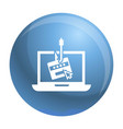 laptop phishing icon simple style vector image vector image