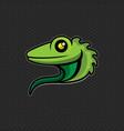 lizard logo design template head icon vector image vector image
