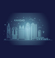 minimal kansas linear city skyline with vector image vector image