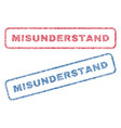 misunderstand textile stamps vector image vector image