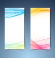 Modern tranparent vertical abstract banner set vector image